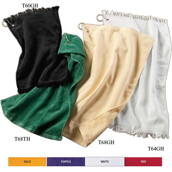 Towels Plus (r) Anvil (r) - Colors - Fringed 100% Cotton Terry Fingertip Towel With Grommet Photo