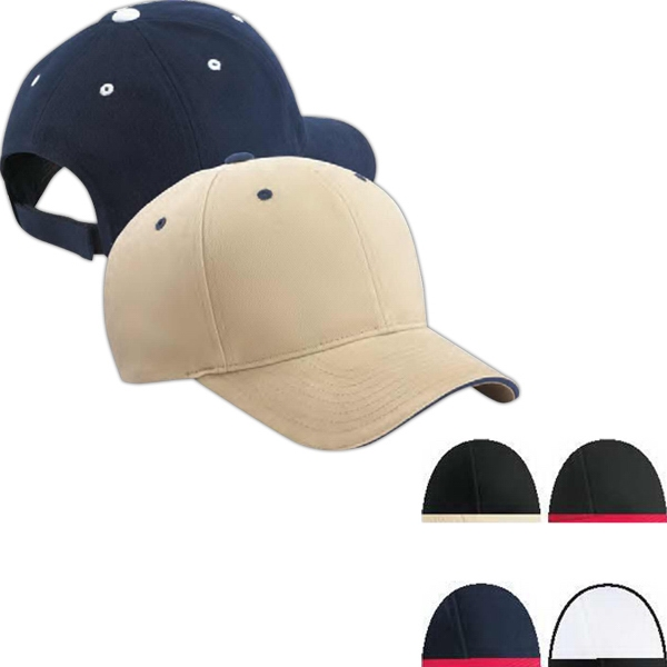 Yupoong Adult Brushed Cotton Twill 6-Panel Mid-Profile Sa...