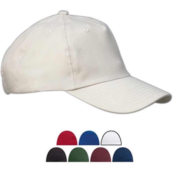 Big Accessories 5-Panel Brushed Twill Unstructured Cap
