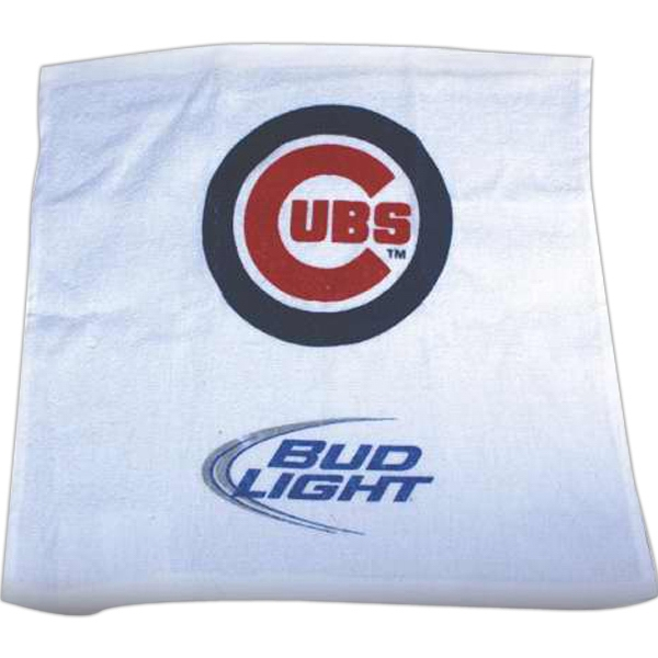 "15"" x 18"" Rally Flat Faced Microfiber Towel"