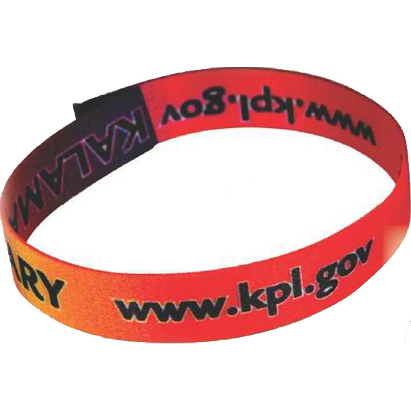 "Polyester Wristband Dye Sublimated 1/2"" x 8 1/2"""