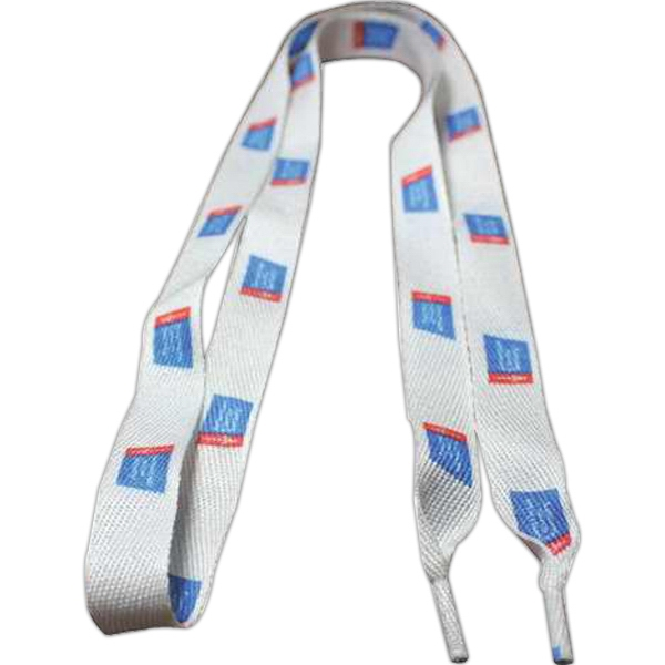 "Shoelaces (Pair) 45""x3/4"" Recycled Polyester Dye Sublimated"