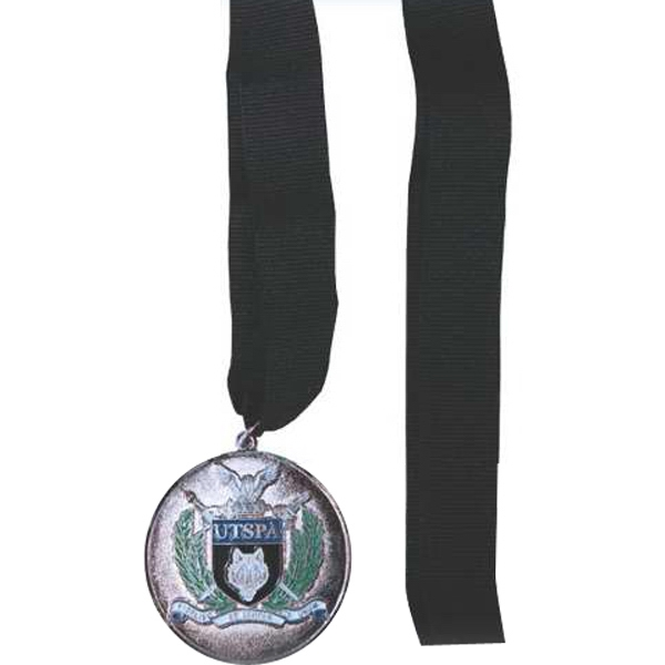 "2"" Medallion with Ribbon/Lanyard"