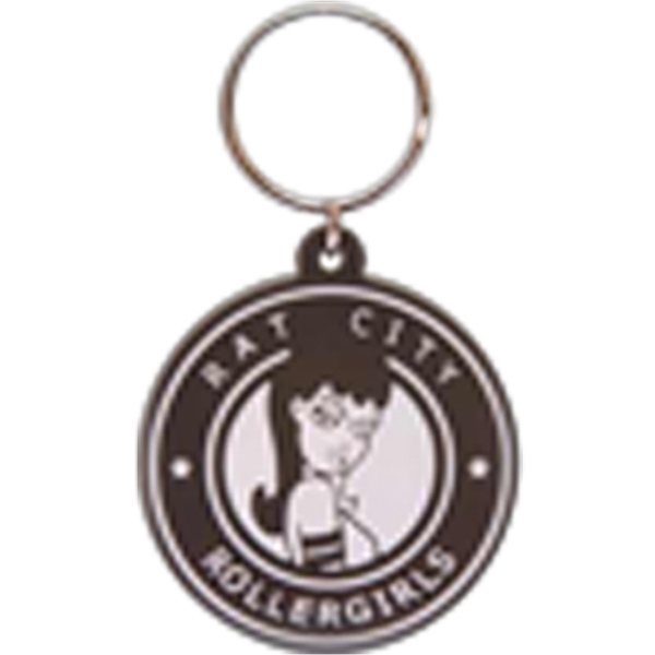 "Soft PVC Key Tag 2D; up to 1.55"" diameter"