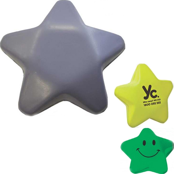 Polyurethane Stress Relievers (Star w/ Face)