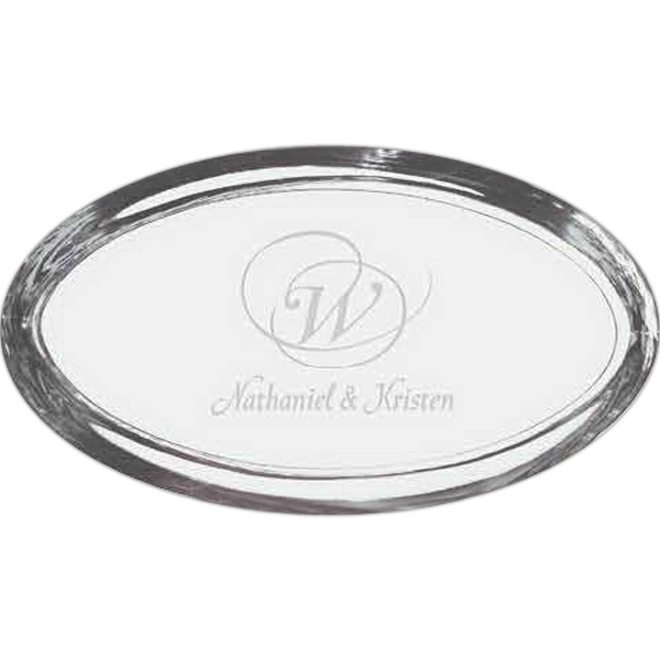 Oval Beveled Edge Paperweight Photo