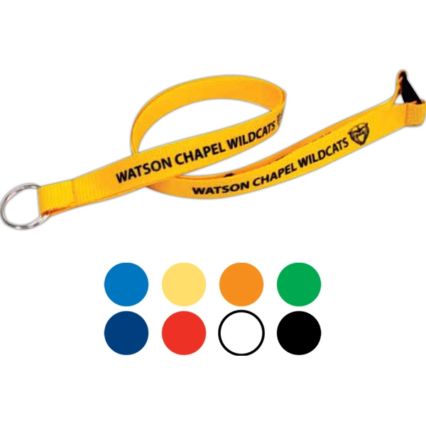 Flat Polyester Lanyard With Breakaway And Attachment Photo