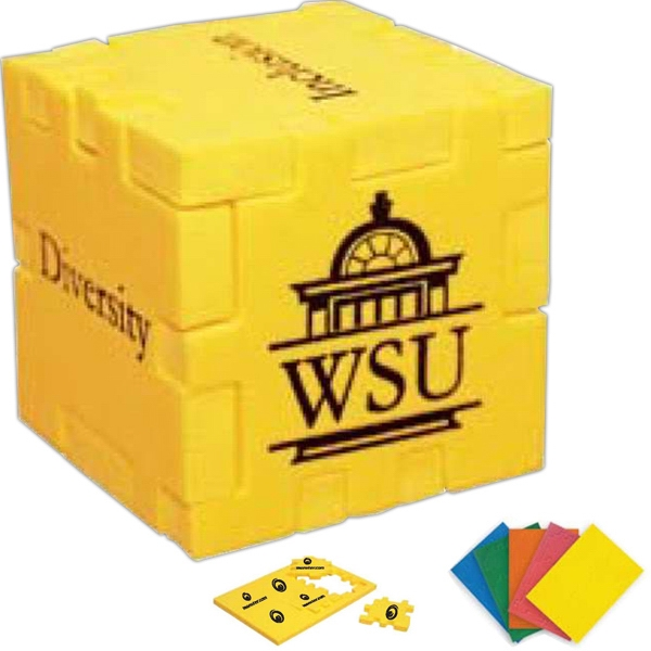 Puzzle Cube With High Density Foam Parts, That Create A Cube When Assembled Photo