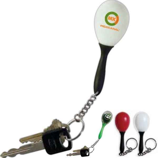 Micro Cha Cha (r) - Printed - Exclusive Micro Maraca, With Black Handle And Key Chain Added Photo
