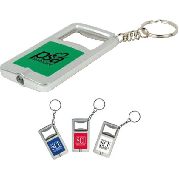 Digital Full Color Process - Handy Bottle Opener And Led Light On A Keychain Photo