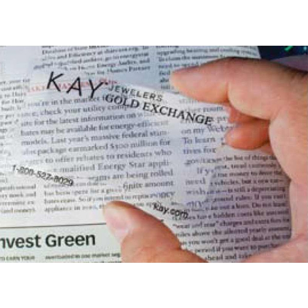 "Easy Reader Magnifier - Credit card size ""Easy Reader Magnifier"".  Excellent mail piece, low promotional price under $.50"