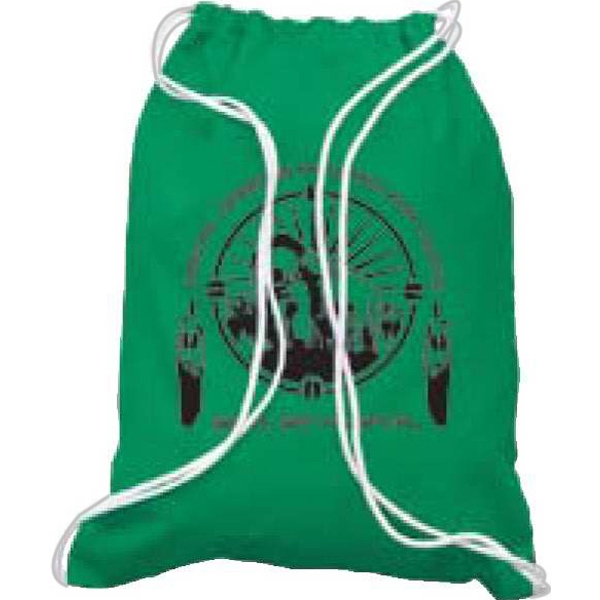 Natural Colors - 100% 6 Oz Cotton Sport Pack With Drawstring Photo