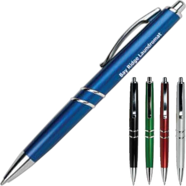 Beldad - Printed - Pen With Shiny Barrel And Silver Trim  Photo