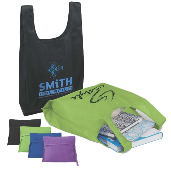 T-pac (tm) T-shirt Poly Bag - Bag Made Of 190 Denier Polyester With Large Interior Pocket That Folds Into Pouch Photo