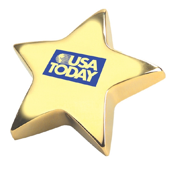 Gold Star Shape Paperweight Photo