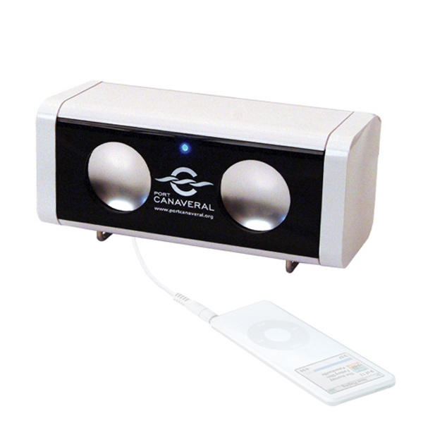 Sleek Amplifier And Speaker, Uses 4 Aa Batteries (not Included) Photo