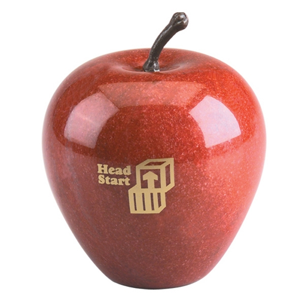 Genuine Marble Apple Shape Paperweight Photo