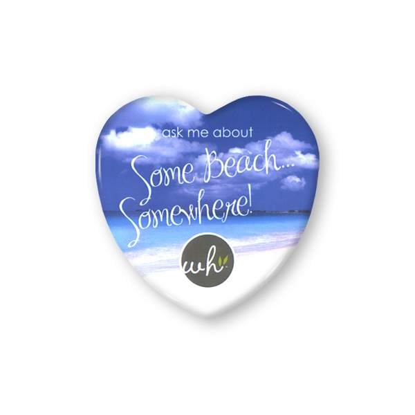 "Full Color, Heart Button 2 1/4"" Photo"