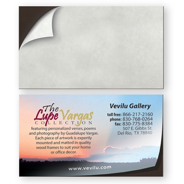 Peel And Stick Business Card Magnet, Blank Photo