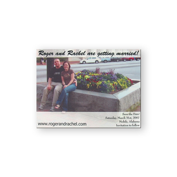 "Calendar/schedule Magnet, Flexible Vinyl Protected With Plastic Coating 3 1/2"" X 4"" Photo"