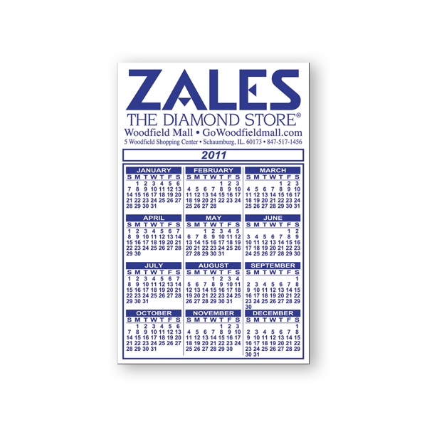 Calendar And Schedule Magnet, Flexible Vinyl Protected With A Plastic Coating Photo