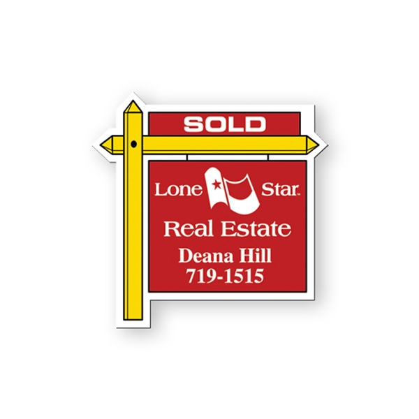 Flexible Stock Shape Vinyl Magnet With Real Estate Sign Design Photo