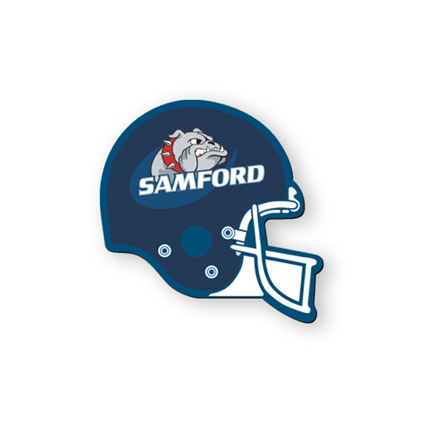 Football Helmet Shape Flexible Vinyl Magnet, Protected With Plastic Coating Photo