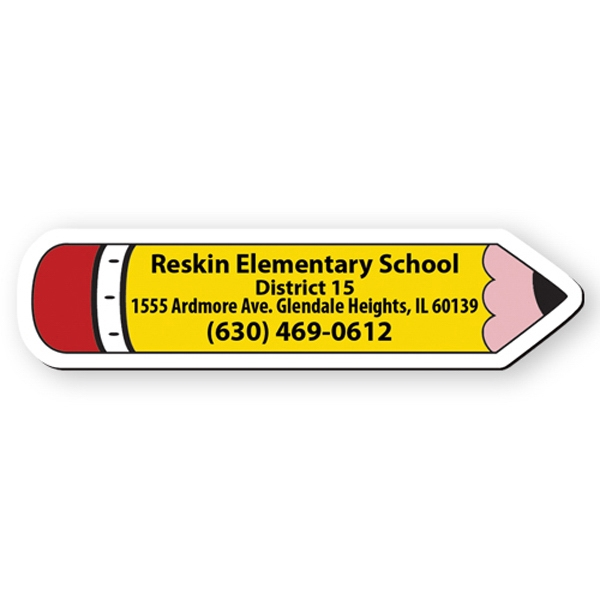 Pencil Shape Flexible Vinyl Magnet, Protected With Plastic Coating Photo