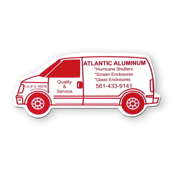 Stock Van Shape Vinyl Magnet With Ultra Clear Mylar Film Photo