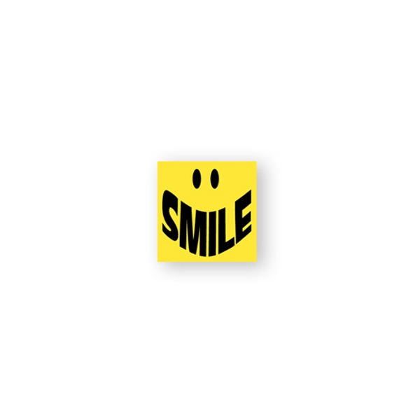 "Square Lapel Sticker Printed On Glossy Permanent Adhesive Paper, 1"" X 1"" Photo"