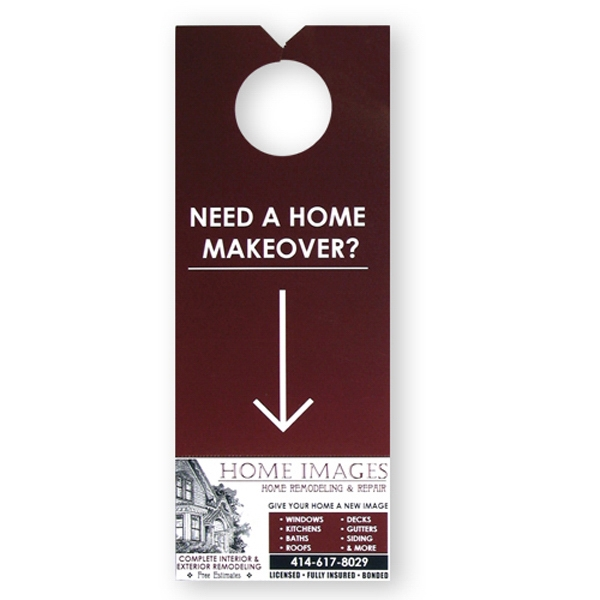 Door Hanger With Perforated Area To Use As A Tear Away Information Card/coupon Photo