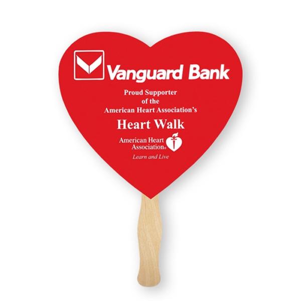 Heart Hand Fans