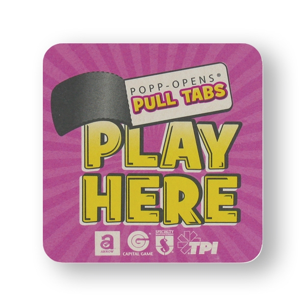 Full Color Pulp-board Coasters On 40 Pt Stock Photo