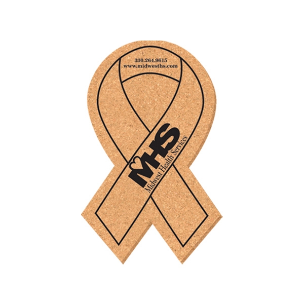 Awareness Ribbon Shape Cork Coaster Photo