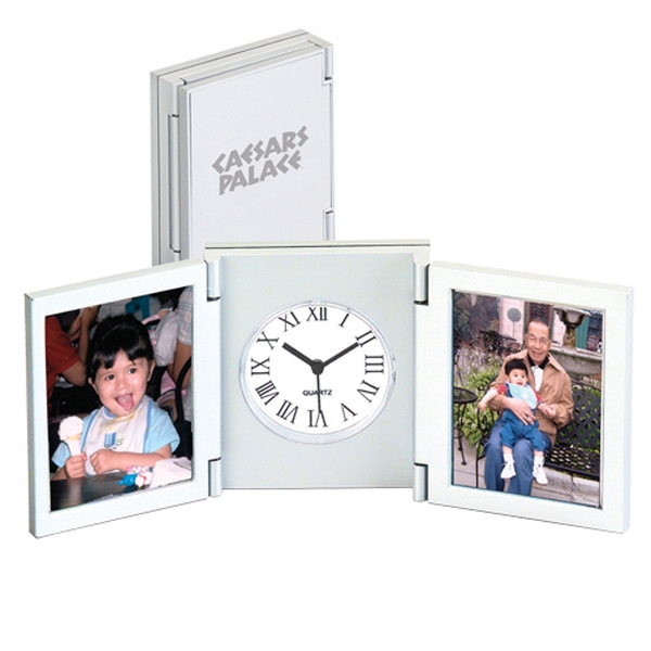 Photo Frame And Tri-fold Desk Alarm Clock Photo