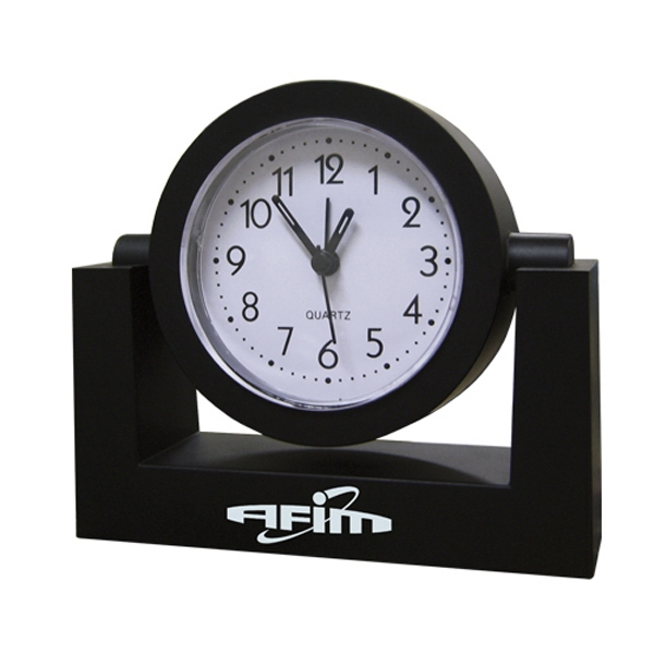 Black Swivel Analog Desk Clocks Can Be Rotated For Easy View Photo