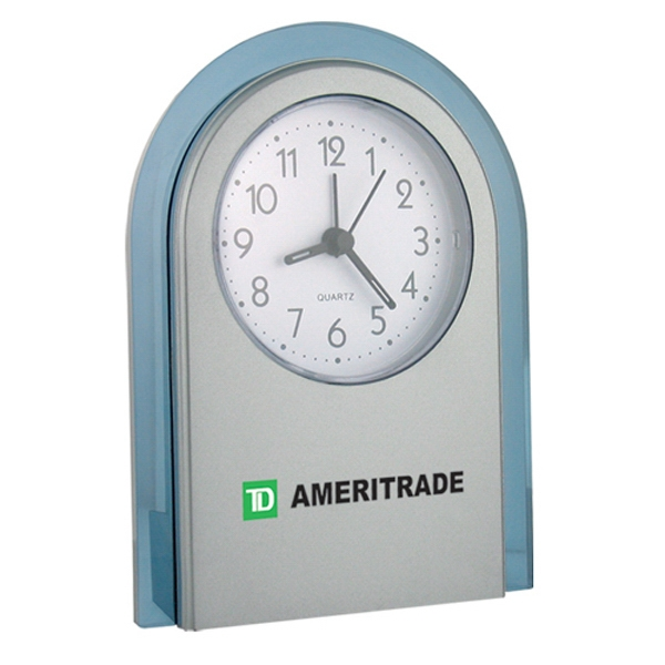 "Stand-up Analog Desk Alarm Clock, 4 1/4"" X 5 1/2"" X 1 3/8"" Photo"