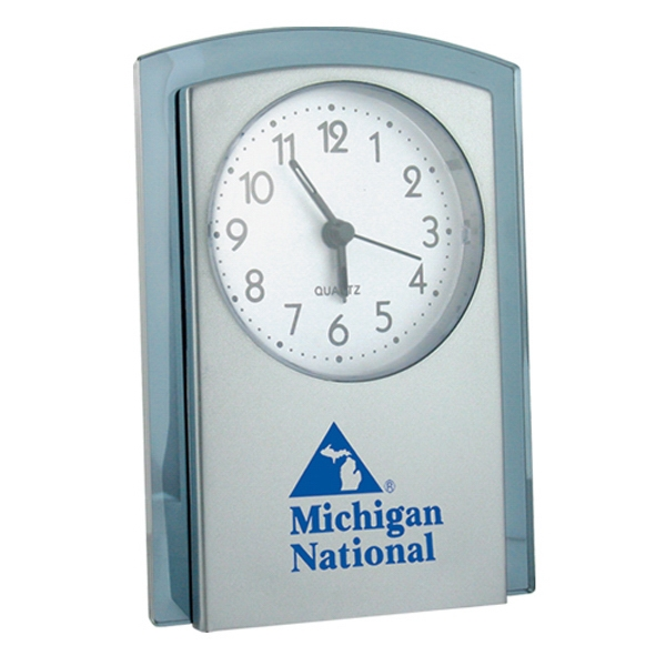 "Stand-up Analog Desk Alarm Clock, 4"" X 5 1/2"" X 1 1/2"" Photo"