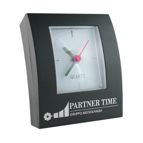 Black Rectangular Shape Analog Desk Clock Photo