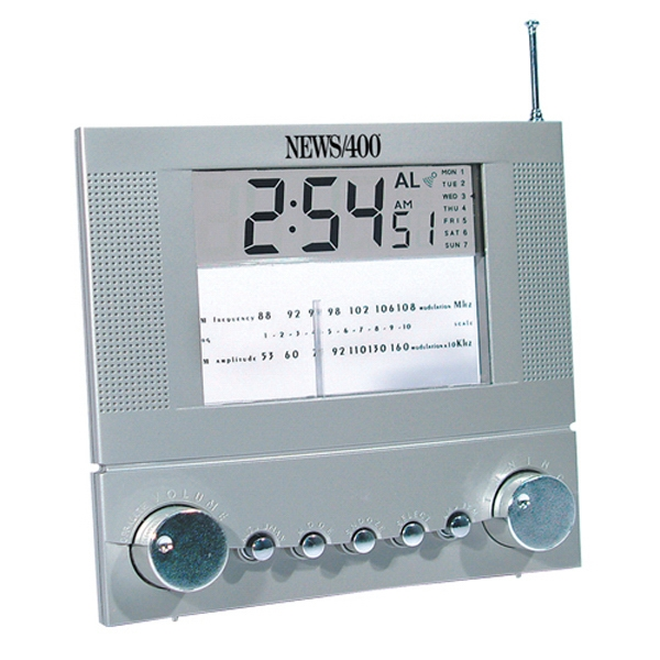 "Dashboard Style Lcd Am/fm Clock Radio, Size 6"" X 5 1/2"" X 3"" Photo"