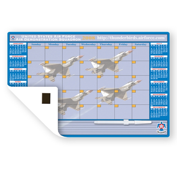 "Memo Board Calendar With Dry Erase Marker, 11"" X 17"" Photo"