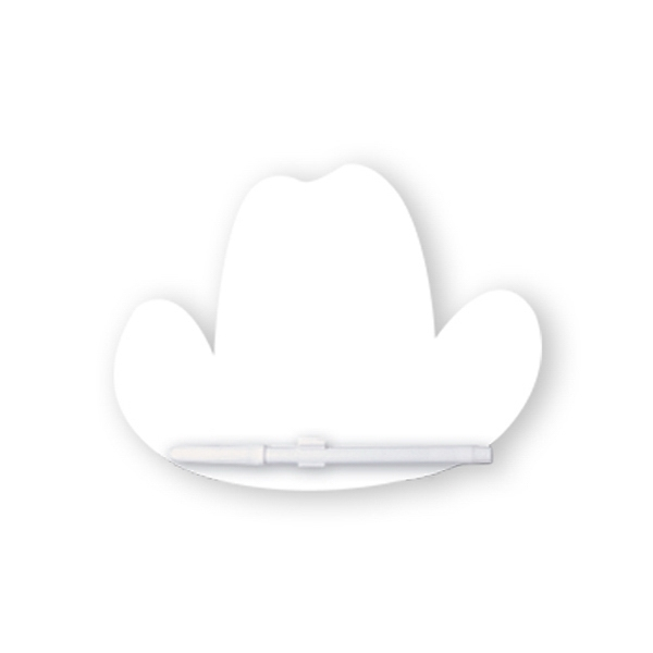 Cowboy Hat Memo Board With Dry Eraser Marker With C-clip Photo