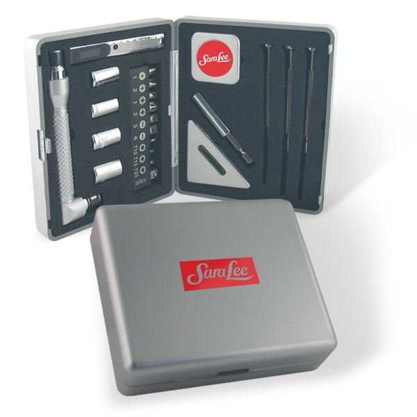 22 Piece Tool Kit Set In A Durable Silver Case Photo