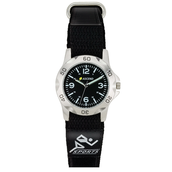 Unisex Sport Style Watch With Hook And Loop Closure Strap Photo