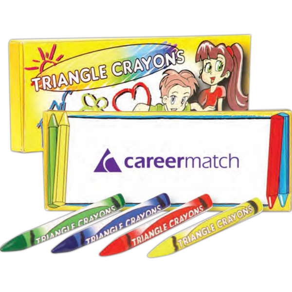 Four Pack Of Triangle Crayons Photo
