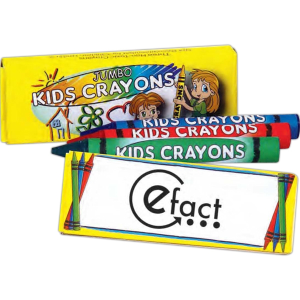 Three Pack Of Jumbo Crayons Photo