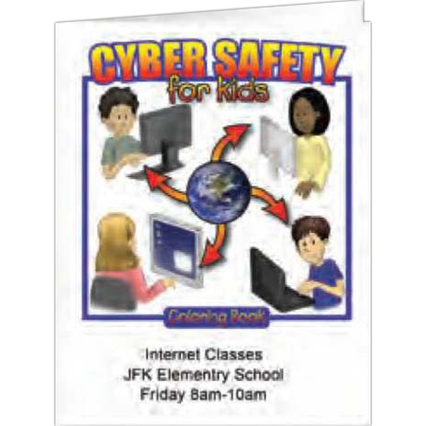 Cyber Safety For Kids - Coloring Book, 8 Pages Photo