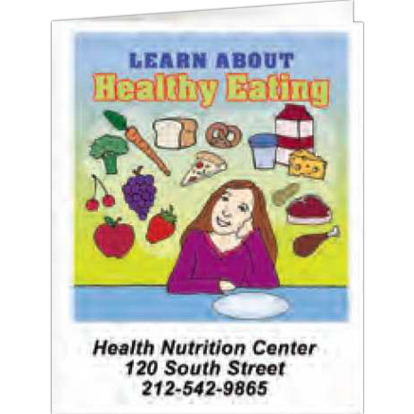 Learn About Healthy Eating - Coloring Book, 8 Pages Photo