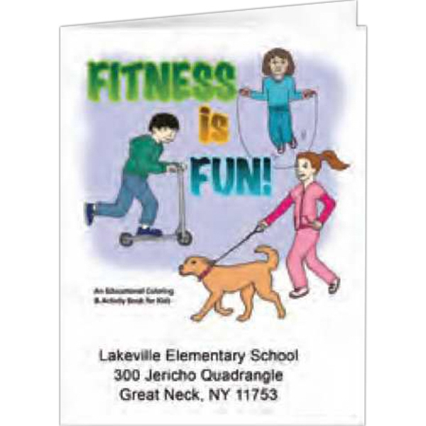 Fitness Is Fun! - Coloring Book, 8 Pages Photo