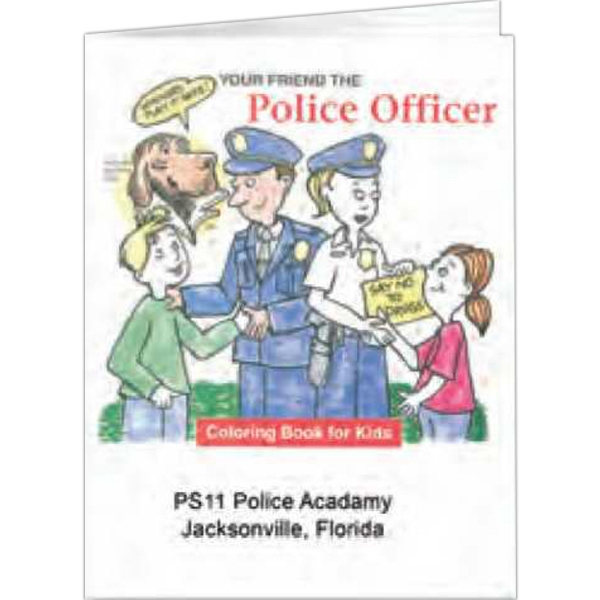 Your Friend The Police Officer - Coloring Book, 8 Pages Photo